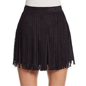 NWT Saks 5th Ave 5/48 Vegan Suede Fringe Skirt XS